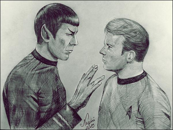 William Shatner, Leonard Nimoy by Nagini